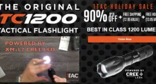 TC1200 Tactical Flashlight High Performance Flashlight 90% Off