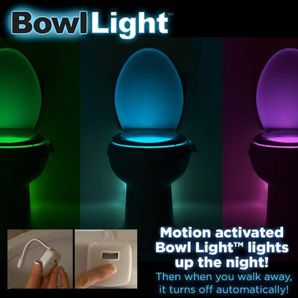 Bowl Light Toilet Bowl A Soft Gentle Night Light