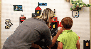 Brik Make a Wall LEGO Compatible With Wall Tiles on Funderdome
