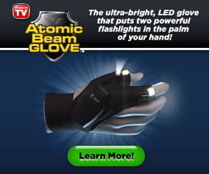 Atomic Beam Glove Seen On TV  Ultra-Bright, LED Glove Powerful Flashlights
