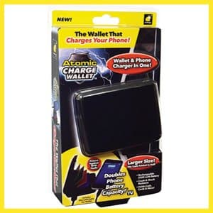 Atomic Charge Wallet As Seen On TV  The Best Wallet Charges Your Phone