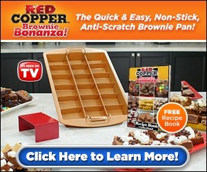 Red Copper Brownie Bonanza Non-Stick, Anti-Scratch Brownie Pan
