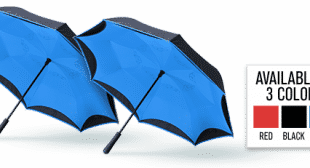 Better Brella – Upside Down Umbrella with Reverse Open Close Technology!
