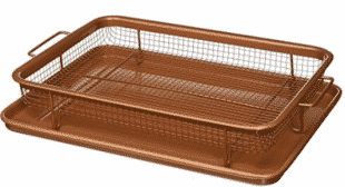 Gotham Steel Copper Crisper Tray As Seen On TV Non-Stick Baking Rack