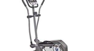 Marcy Magnetic Elliptical Trainer Cardio Workout Machine with Transport Wheels NS-40501E