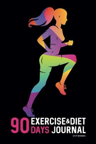 90 Days Exercise and Diet Journal: Food and Weight Loss Diary