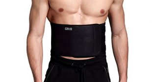 Waist Trimmer Ab Belt For Men Women – 3 Adjustable Closure Waist Trainer – Stomach Wrap Slimming Sauna Weight Loss Belts and lower Back Lumbar Support by Cotill (Large)