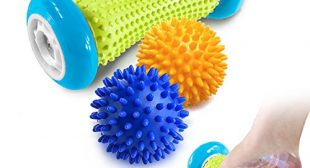 Pasnity Foot Massage Roller Spiky Ball Foot Pain Relief Massager