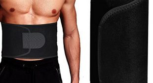 Singular point Waist Trimmer,Best Abdominal Trainer Fast Weight Loss Wrap Adjustable Sweat Belt for Men and Women Lumbar Support Increased and Stomach Fat Burner with Sauna Suit Effect (Black, L)