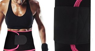 Singular Point Waist Trimmer,Best Abdominal Trainer Fast Weight Loss Wrap Adjustable Sweat Belt for Men and Women Lumbar Support Increased and Stomach Fat Burner with Sauna Suit Effect (Rose red, L)
