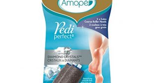 Amope Pedi Perfect Electronic Foot File Refills, 2 Count, Extra Coarse