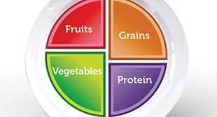Choose MyPlate 10 inch Plate for Adults and Teens, Healthy Food and Portion Control