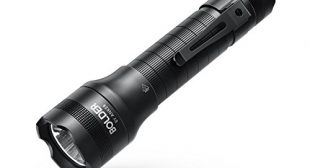 Anker [Rechargeable] Bolder LC40 Flashlight, LED Torch, Super Bright 400 Lumens CREE LED, IP65 Water Resistant, 5 Modes High/Medium/Low/Strobe/SOS, Indoor/Outdoor (Camping, Hiking and Emergency Use)