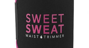 Sweet Sweat Waist Trimmer (Pink Logo) for Men & Women. Includes Premium Waist Trimmer carrying bag (XXL)