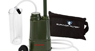 Survivor Filter PRO – Virus and Heavy Metal Tested 0.01 Micron Water Filter. 3 Filter Stages – 2 Cleanable 100,000L Membranes and a Carbon Filter PRO