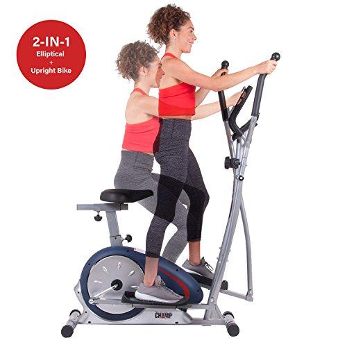 Lifemax Elliptical Bike: Body Champ BRM2788 Dual Trainer Elliptical Trainer And