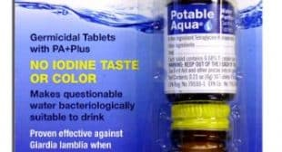 Potable Aqua Water Purification Tablets with PA Plus – For Camping and Emergency Drinking Water