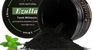 Teeth Whitening Powder, Activated Nature Charcoal Bamboo Whitener of Organic Coconut Safe Effective Remove Stains, Whiten Teeth, Enhance Gum Health, Refresh Breath by Ezulla (2.1oz)