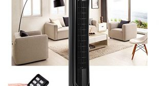 "40"" LCD Tower Fan Digital Control Oscillating Cooling Air Conditioner Bladeless"