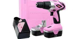 Pink Power PP182 18V Cordless Electric Drill Driver Set for Women – Tool Case, 18 Volt Drill, Charger and 2 Batteries