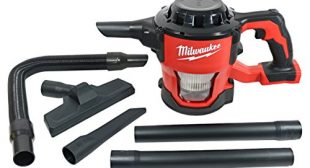 Milwaukee 0882-20 M18 Lithium Ion Cordless Compact 40 CFM Hand Held Vacuum w/Hose Attachments and Accessories (Batteries Not Included, Power Tool Only)