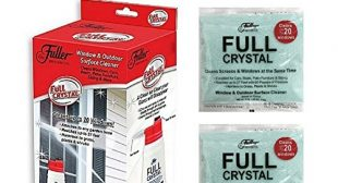 Full Crystal Window Cleaner All Purpose Outdoor Glass Cleaners As Seen On TV With 2 Pack Crystal Powder Refills