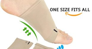 Gel Foot Arch Support Sleeve Shock, Soft Gel Sleeve for Flat Foot, Arch Pain, Arch Support Brace, Arch Brace, Minimize Soreness for Foot Arch, Absorbing Cushion Compression Sock (2 PCS) by Metarsal