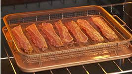 Gotham Steel Crisper Tray Use in Oven or on Grill