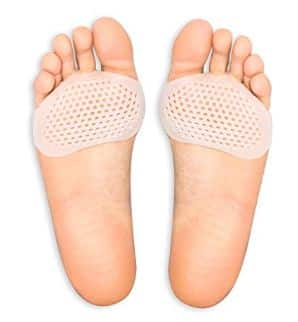 Metatarsal Pads Ball of Foot Cushions Designed by Brison 2 Pieces – Soft Gel Ball of Foot Pads – Mortons Neuroma Callus Metatarsal Foot Pain Relief Bunion Forefoot Cushioning Relief Women Men