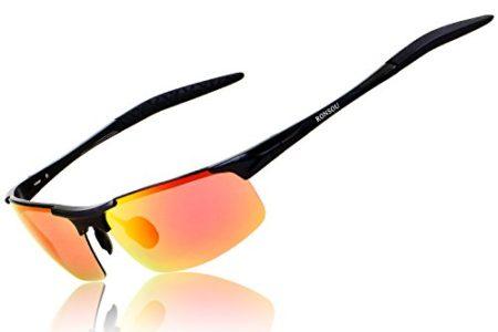 Ronsou Men Sports Polarized Sunglasses Unbreakable