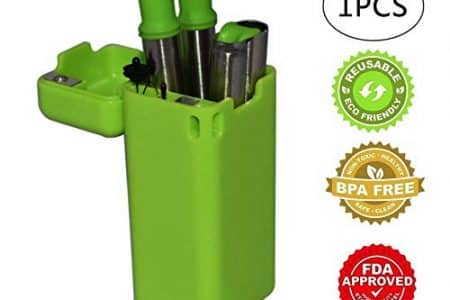Collapsible Straw, Folding Drinking Straw Stainless Steel