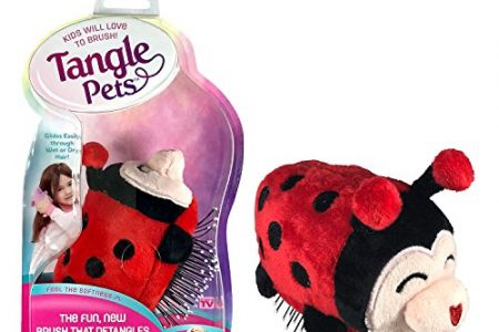 Tangle Pets LIZZY THE LADYBUG - The Detangling Brush in a Plush