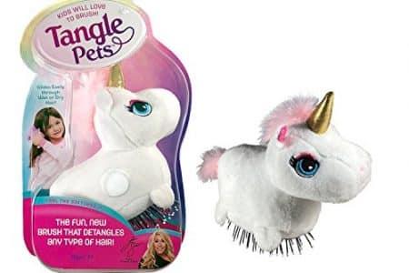 Tangle Pets SPARKLES THE UNICORN- The Detangling Brush in a Plush, As Seen on Shark Tank