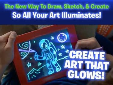 magicpad art that glows