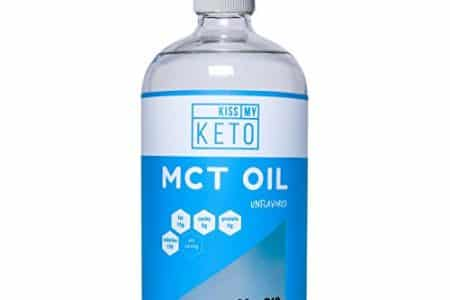 Kiss My Keto MCT Oil - Derived Only from Non-GMO Coconut Oil, 32 oz Glass Bottle w/Pump