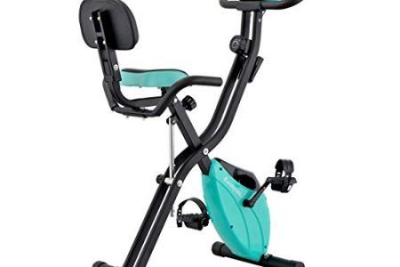 Harvil Foldable Magnetic Exercise Bike with 10-Level Adjustable Magnetic Resistance