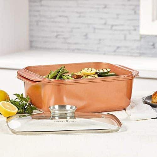 14 In 1 Multi Use Copper Chef Wonder Cooker With Roasting