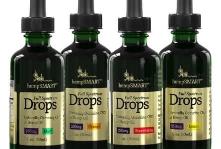 hempSmart 4 Pack CBD Full Spectrum Hemp Oil Drops 250MG