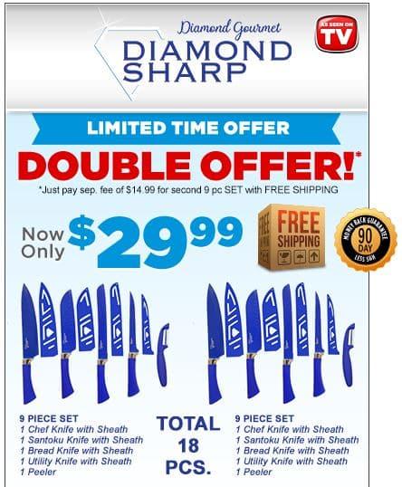 Diamond Sharp Knives Set