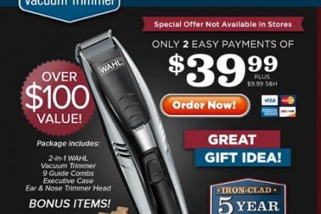 wahl hair vacuum trimmer