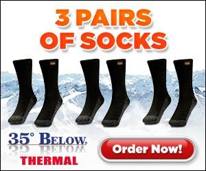 35 below thermal socks