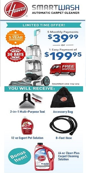 hoover smartwash deals