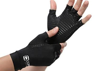 Copper Compression Arthritis Gloves Best Copper Infused Fit Glove for Women and Men