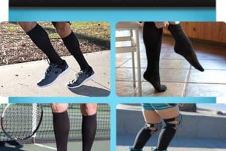 Copper Fit Compression Socks Unisex Easy-Off Knee High