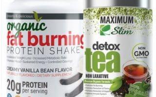 fat burning shake and detox tea