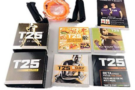 Beachbody Focus T25 Shaun T's DVD Workout Program | Comprehensive Fitness Guide & Nutrition Plan Included