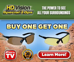HD Vision Special Ops Glasses