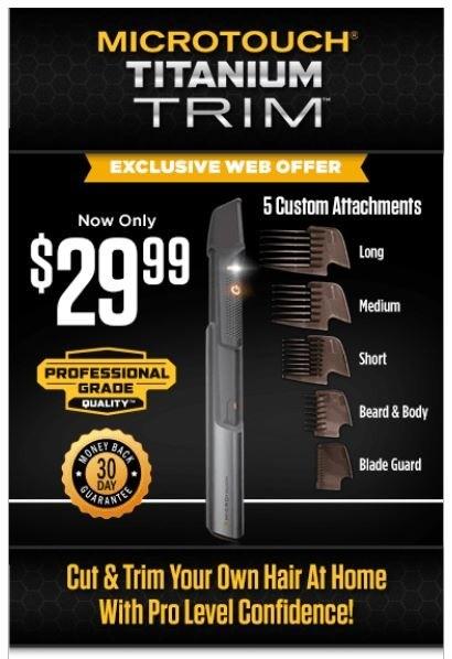 microtouch titanium trim offer